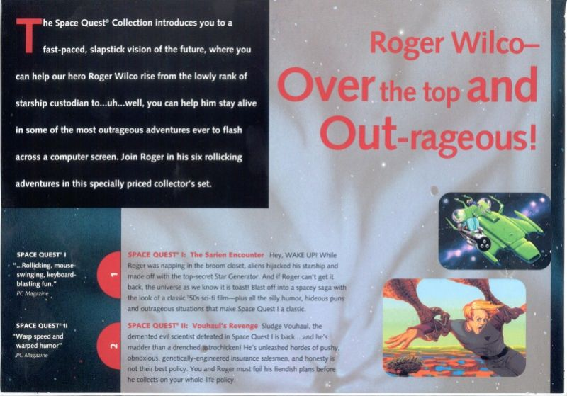 Space Quest: Collection Series DOS Inside Cover Upper Flap