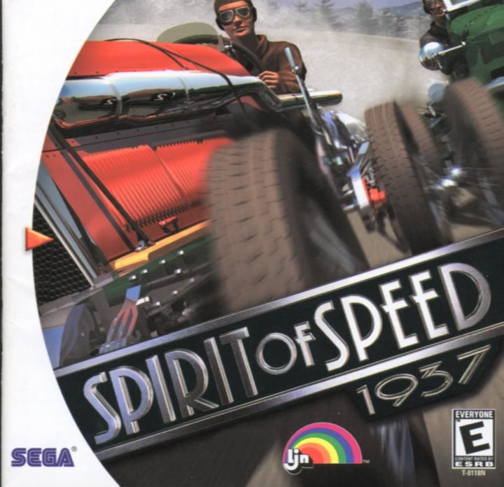 Spirit of Speed 1937 Dreamcast Front Cover