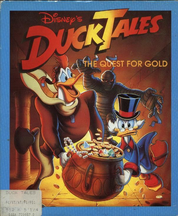 Disney's Duck Tales: The Quest for Gold DOS Front Cover