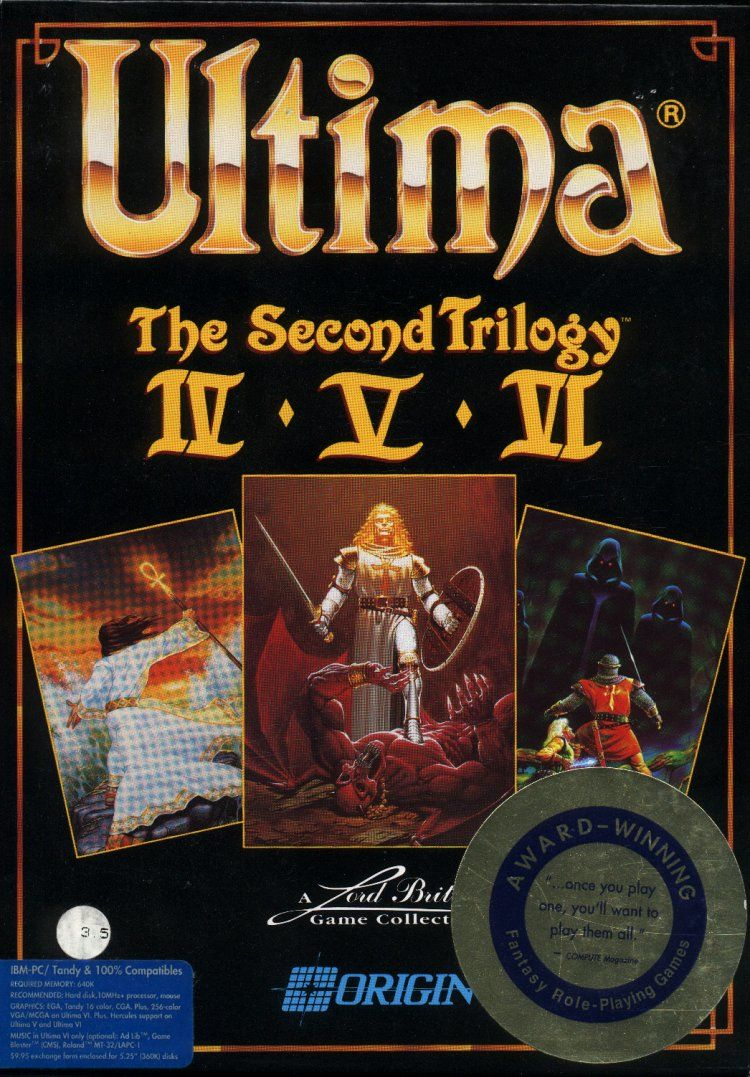Ultima: The Second Trilogy DOS Front Cover