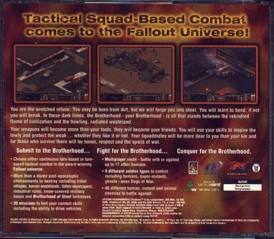 Fallout Tactics: Brotherhood of Steel  Windows Other Jewel Case - Back