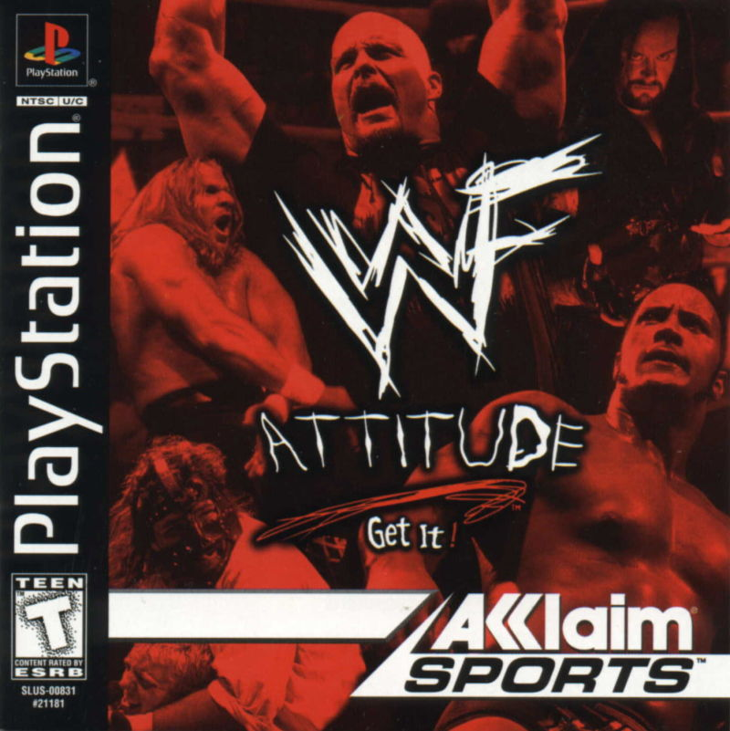 WWF Attitude PlayStation Front Cover