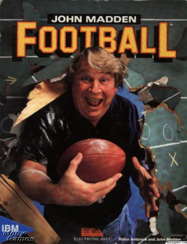 John Madden Football DOS Front Cover