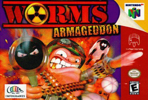 Worms Armageddon Nintendo 64 Front Cover