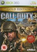 Call of Duty 3 (Gold Edition) Xbox 360 Front Cover