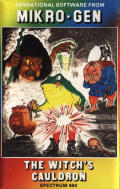 The Witch's Cauldron ZX Spectrum Front Cover