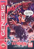 Awesome Possum Kicks Dr. Machino's Butt Genesis Front Cover