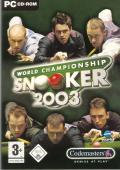 World Championship Snooker 2003 Windows Front Cover