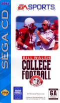 Bill Walsh College Football  SEGA CD Front Cover