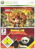 LEGO Indiana Jones: The Original Adventures / Kung Fu Panda Xbox 360 Front Cover