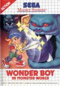Wonder Boy in Monster World SEGA Master System Front Cover
