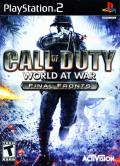 Call of Duty: World at War - Final Fronts PlayStation 2 Front Cover
