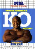 George Foreman's KO Boxing SEGA Master System Front Cover