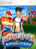 3D Ultra Mini Golf Adventures Xbox 360 Front Cover