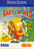 The Simpsons: Bart vs. the World SEGA Master System Front Cover