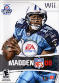 Madden NFL 08 Wii Front Cover