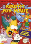 Krusty's Fun House NES Front Cover