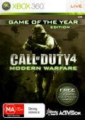 Call of Duty 4: Modern Warfare - Game of the Year Edition Xbox 360 Front Cover