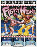 Fight Night Atari 8-bit Front Cover