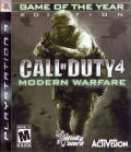 Call of Duty 4: Modern Warfare - Game of the Year Edition PlayStation 3 Front Cover