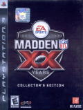 Madden NFL: XX Years (Collector's Edition) PlayStation 3 Front Cover