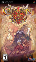 Crimson Gem Saga PSP Front Cover