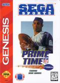 Prime Time NFL Football starring Deion Sanders Genesis Front Cover