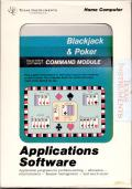 Blackjack & Poker TI-99/4A Front Cover