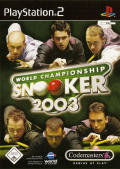 World Championship Snooker 2003 PlayStation 2 Front Cover