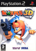 Worms 3D PlayStation 2 Front Cover