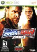 WWE Smackdown vs. Raw 2009 Xbox 360 Front Cover