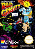 The Adventures of Rad Gravity NES Front Cover