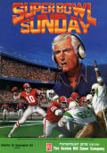 Super Bowl Sunday Commodore 64 Front Cover