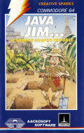 Java Jim in Square Shaped Trouble Commodore 64 Front Cover