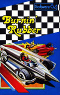 Burnin Rubber Commodore 64 Front Cover