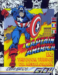 Captain America in: The Doom Tube of Dr. Megalomann Commodore 64 Front Cover
