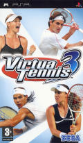 Virtua Tennis 3 PSP Front Cover