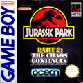 Jurassic Park Part 2: The Chaos Continues Game Boy Front Cover