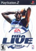 NBA Live 2001 PlayStation 2 Front Cover