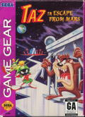 Taz in Escape from Mars Game Gear Front Cover
