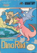 Adventures of Dino-Riki NES Front Cover