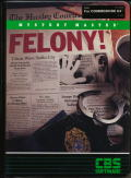 Mystery Master: Felony! Commodore 64 Front Cover