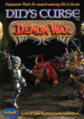 Din's Curse: Demon War Macintosh Front Cover