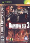 Tom Clancy's Rainbow Six 3 Xbox Front Cover