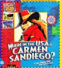 Where in the USA Is Carmen Sandiego? (Deluxe Edition) DOS Front Cover