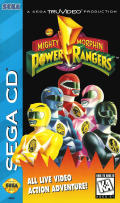 Mighty Morphin Power Rangers SEGA CD Front Cover