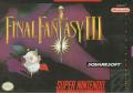 Final Fantasy III SNES Front Cover