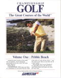 Championship Golf: The Great Courses of the World - Volume One: Pebble Beach DOS Front Cover