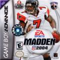 Madden NFL 2004 Game Boy Advance Front Cover
