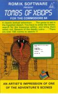 Tombs of Xeiops Commodore 64 Front Cover